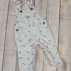 Baby Overalls Size 3months cute feather print